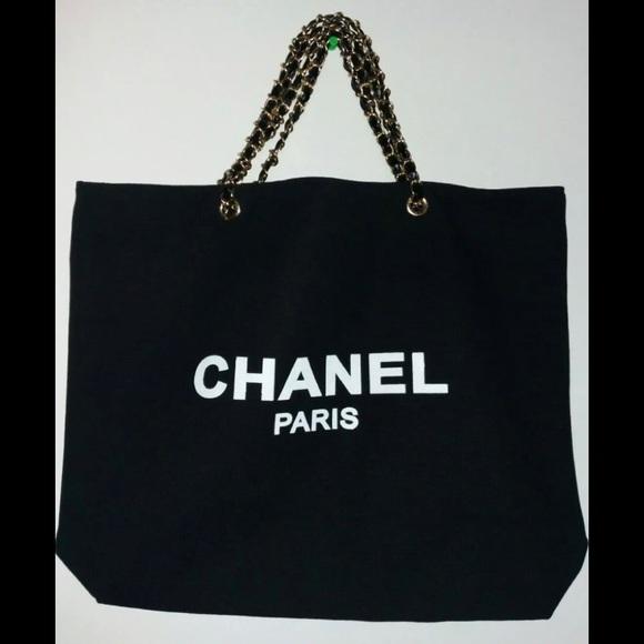 dbb1b500165b CHANEL Bags | Vip Gift Tote Nib Canvas With Gold Chain | Poshmark
